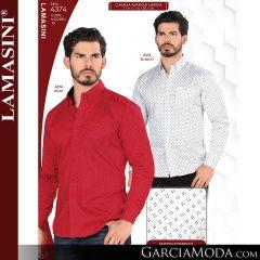 Camisa Vaquera Lamasini 4374-Blanco-Rojo