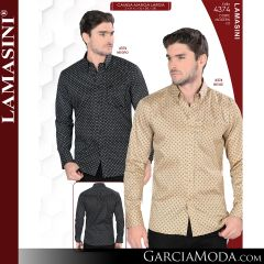 Camisa Vaquera Lamasini 4374-Negro-Beige