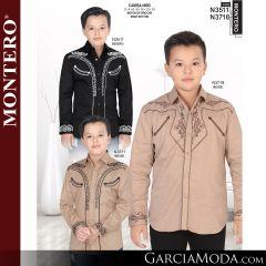 Camisa Lamasini niño 1442-Negro-Vino-Blanco-1470-Beige-1469-Beige