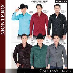 Camisa Vaquera Montero Western 0340-Menta-Rojo-0692-Negro-Verde-0683-Negro-0684-Gris