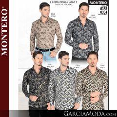 Camisa Vaquera Montero Western 0368-Beige-Negro-0364-Negro-Blanco-Beige