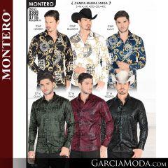 Camisa Vaquera Montero Western 0369-Negro-Blanco-Navy-0716-Olivo-Vino-Negro
