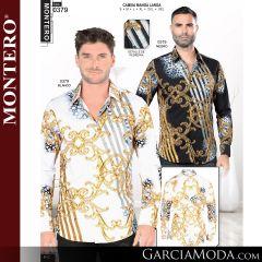 Camisa Vaquera Montero Western 0379-Negro-Blanco