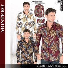 Camisa Vaquera Montero Western 0381-Blanco-Vino-Negro