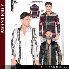 Camisa Vaquera Montero Western 0388-Navy-Blanco-Negro