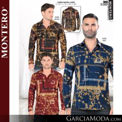 Camisa Vaquera Montero Western 0389-Negro-Azul-Vino