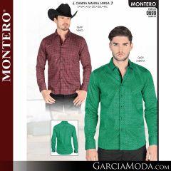 Camisa Vaquera Montero Western 0699-Vino-Menta