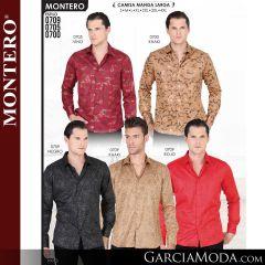 Camisa Vaquera Montero Western 0709-Negro-Khaki-Rojo-0705-Vino-0700-Khaki