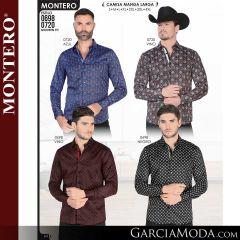 Camisa Vaquera Montero Western 0720-Azul-Vino-0698-Vino-Negro