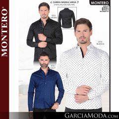 Camisa Vaquera Montero Western 0721-Negro-Blanco-Navy