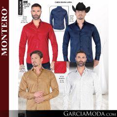 Camisa Vaquera Montero Western 0723-Rojo-Azul-Camel-Blanco