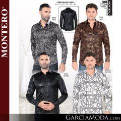 Camisa Vaquera Montero Western 0724-Gris-Cafe-Negro-Blanco