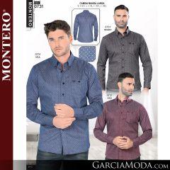 Camisa Vaquera Montero Western 0731-Negro-Azul-Vino