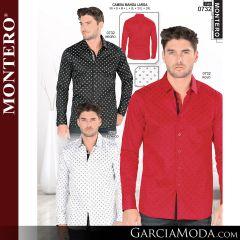 Camisa Vaquera Montero Western 0732-Negro-Rojo-Blanco