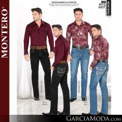 Pantalon Montero Western 4512 Negro, 4507 Azul