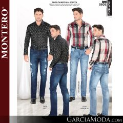 Pantalon Montero Western 5608 Azul, Light Blue