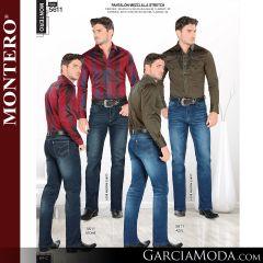 Pantalon Montero Western 5611 Stone Azul
