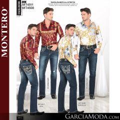 Pantalon Montero Western MT4511 Azul, MT4508 Dark Blue