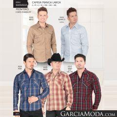 Camisa Vaquera Montero Western 0335 Beige Blanco 0325 Azul Beige Vino