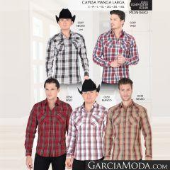 Camisa Vaquera Montero Western 0349 Negro Vino 0350 Rojo Blanco 0348 Negro