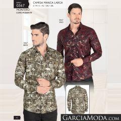 Camisa Montero Western 0367 Vino Beige