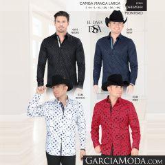 Camisa Vaquera Montero Western 0683-Negro-Navy-0344-Blanco-Rojo