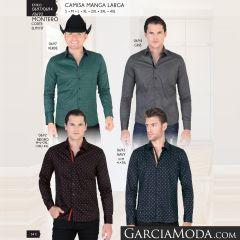 Camisa Vaquera Montero Western 0697 Verde 0694 Gris 0692 Negro Navy
