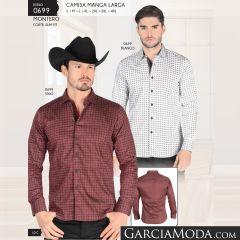 Camisa Montero Western 0699 Blanco Vino