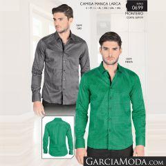 Camisa Montero Western 0699 Gris Menta