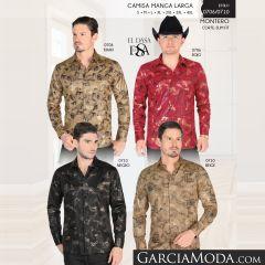 Camisa Vaquera Montero Western 0706 Khaki Rojo 0710 Negro Beige