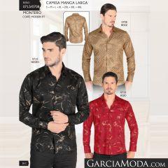 Camisa Vaquera Montero Western 0708 Beige 0713 Negro Rojo