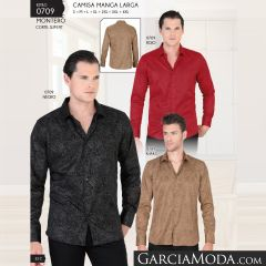 Camisa Vaquera Montero Western 0709 Rojo Negro Khaki