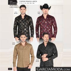 Camisa Vaquera Montero Western 0712 Negro Vino 0714 Beige Negro
