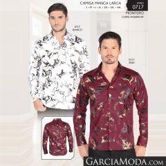 Camisa Montero Western 0717 Blanco Vino