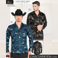 Camisa Montero Western 0717 Negro Teal