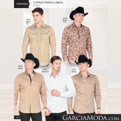 Camisa Vaquera Montero Western Beige 0346 Beige 0345 Beige 0336 Blanco