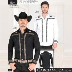 Camisa Montero Western 3520 Blanco Negro