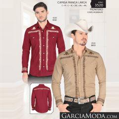 Camisa Montero Western 3520 Rojo Beige