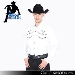 Camisa Vaquera El Senor De Los Cielos Western 123863 Blanco