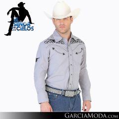 Camisa Vaquera El Senor De Los Cielos Western 123900 Gris