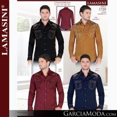 Camisa Vaquera Lamasini 1739-Negro-Mostaza-Vino-Navy
