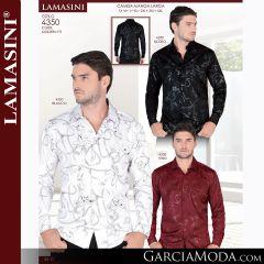 Camisa Lamasini 1705-Negro-Blanco-4328-Navy-Teal