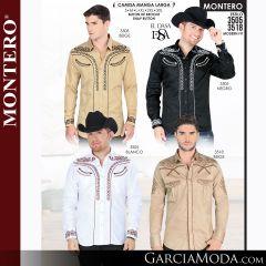 Camisa Vaquera Montero Western Wear 0721 navy