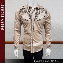 Camisa Vaquera Montero Western Wear 3516 beige