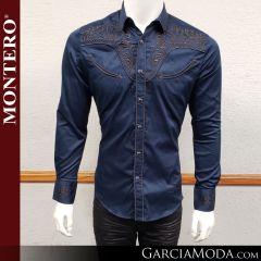Camisa Vaquera Montero Western Wear 3516 navy