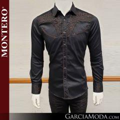 Camisa Vaquera Montero Western Wear 3516 negra