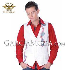 Chaleco Fino El General 32010 Color Blanco