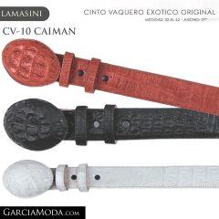 CINTO PIEL EXOTICA LAMASINI WESTERN CV-10 CAIMAN
