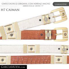 CINTO PIEL EXOTICA LAMASINI WESTERN H7 Caiman