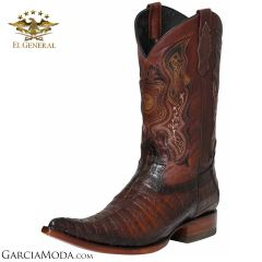 El General Boots Piel Exotica Caiman Belly Coffee 122526